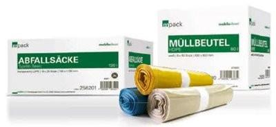 mpack Abfallsäcke 70L transparent T60 LDPE 575x1000mm (36my) 25 Stück/Rolle